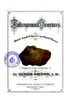 Underground Treasures how and where to Find Them PDF