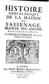 Histoire généalogique de la maison de Sassenage, branche des anciens comtes de Lyon et de Forests