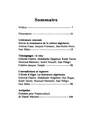 Vie culturelle    Alger  1900 1950 PDF