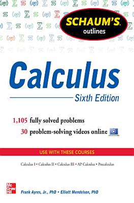 Schaum s Outline of Calculus  6th Edition
