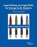 Legal Writing and Legal Skills for Foreign Ll m  Students PDF