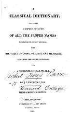 A Classical Dictionary Book PDF