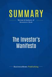 Summary: The Investor's Manifesto: Review and Analysis of Bernstein's Book