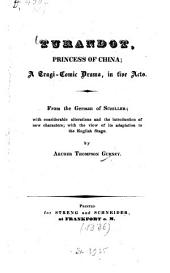 Turandot, Princess of China: A Tragi-comic Drama, in 5 Acts
