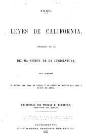 Leyes de California: Aprobadas durante le... Sesión de la legislatura...