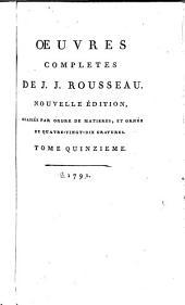 Œuvres completes de J.J. Rousseau: Sciences, arts et belles lettres