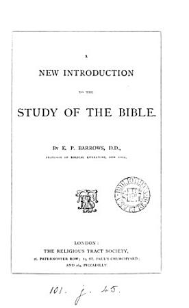 A new introduction to the study of the Bible PDF