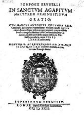 In sanctum Agapitum martyrem Praenestinum orationes II