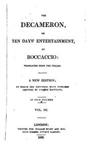 The Decameron, Or, Ten Days' Entertainment, of Boccaccio:: Volume 2