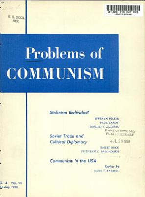 Problems of Communism PDF