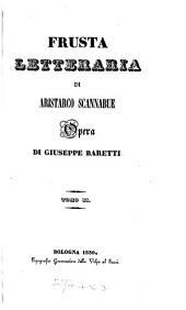 La Frusta letteraria di Aristarco Scannabue: Volume 2