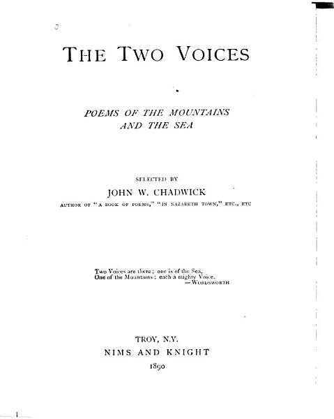 Download The Two Voices Book
