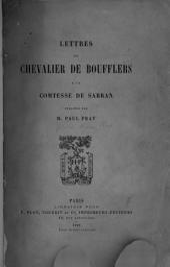 Lettres du Chevalier de Boufflers à la Comtesse de Sabran