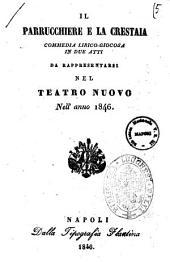 Il parrucchiere e la crestaia commedia lirico-giocosa in due atti [poesia de' signori A. De Leone e G. di Giurdignano