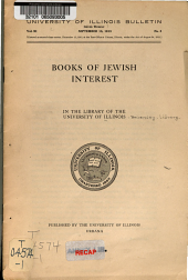Books of Jewish interest in the library of the University of Illinois