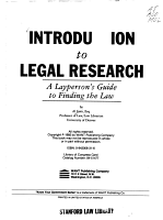 Introduction to Legal Research PDF
