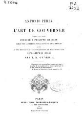 L'art de gouverner: discours adressé a Philippe III (1598)