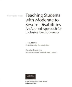 Teaching Students with Moderate to Severe Disabilities PDF