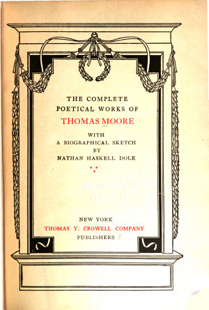 Thomas Moore s Complete Poetical Works