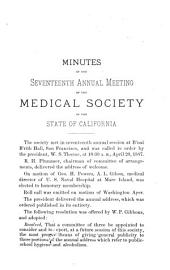 The Transactions of the Medical Society of the State of California: Volumes 17-18