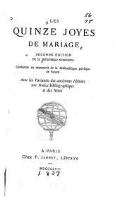 Les quinze joyes de mariage