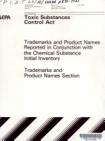Toxic Substances Control Act  TSCA  chemical substance inventory PDF