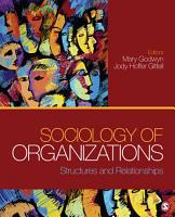 Sociology of Organizations PDF