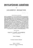 Encyclopadische Jahrbucher Der Gesammten Heilkunde PDF