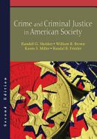 Crime and Criminal Justice in American Society PDF