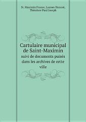 Cartulaire municipal de Saint-Maximin