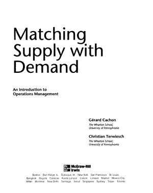 Matching Supply with Demand PDF