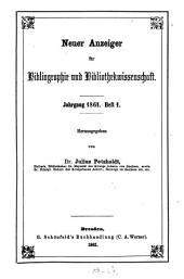 Neuer Anzeiger für Bibliographie und Bibliothekwissenschaft: 1861