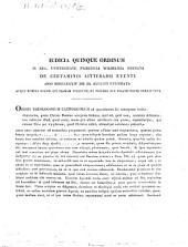 Iudicia quinque ordinum Universitatis Fridericiae Guilelmiae Rhenanae de litterarum certaminibus anni ... facta novaeque quaestiones anno ... propositae: 1834