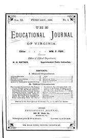 The Educational Journal of Virginia: Volume 11