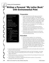 "Environmental Print & Fluency/Comprehension: Writing a ""My Letter Book"""