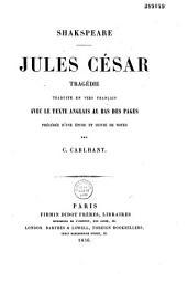 Jules César: tragédie traduite en vers français avec le texte anglais...