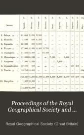 Proceedings of the Royal Geographical Society and Monthly Record of Geography: Volume 9