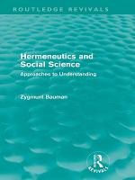 Hermeneutics and Social Science  Routledge Revivals  PDF