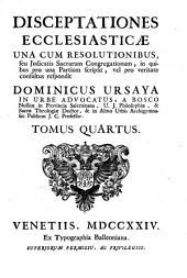 Disceptationes ecclesiasticae: Volume 4