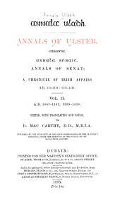 Annala Uladh: 1057-1131: 1155-1378, ed. by B. MacCarthy
