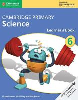 Cambridge Primary Science Stage 6 Learner s Book PDF