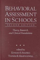 Behavioral Assessment In Schools Book PDF