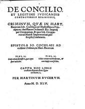 De Concilio et legitime iudicandis controversiis religionis