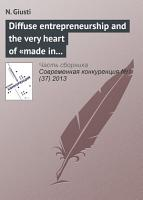 Diffuse entrepreneurship and the very heart of   made in Italy    for fashion and luxury goods PDF