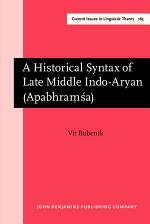 A Historical Syntax of Late Middle Indo-Aryan (Apabhra??a)