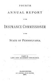 Annual Report of the Insurance Commissioner of the State of Pennsylvania