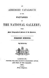 The Abridged Catalogue of the Pictures in the National Gallery