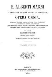 B. Alberti Magni Opera omnia: Volume 5