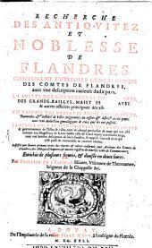 Recherche des antiquitez et nobelesse de Flandre