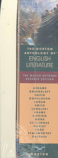 The Norton Anthology of English Literature Book